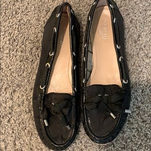 Black slip on Coach shoe